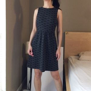 Ann Taylor LOFT Sleeveless Stretch Dress in Grey
